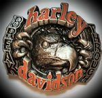 Harley Davidson 'Break Through' Solid Brass Belt Buckle. Code H070